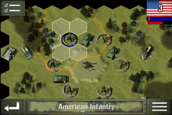 Rundenweise zieht ihr und der Gegner die Einheiten.