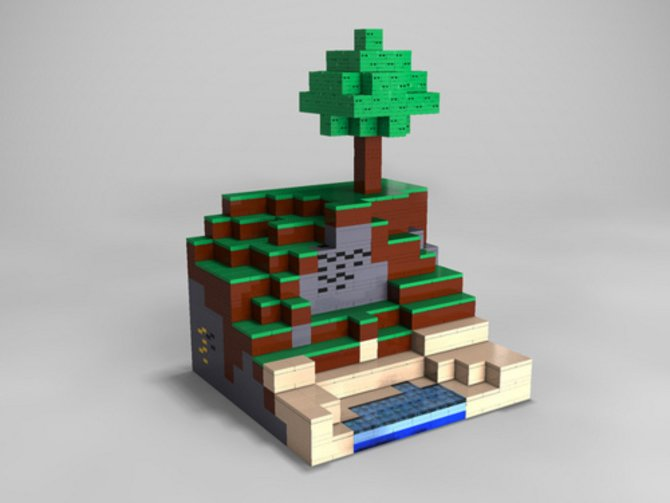 Minecraft mit Lego gebaut - aber natürlich geht es ...
