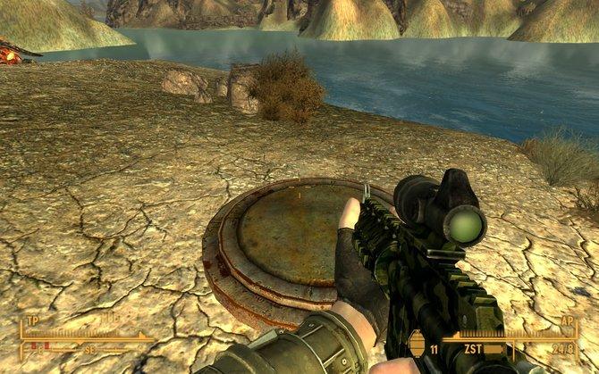 Nach der Installation erhält euer Held einen Hinweis auf den Aufenthaltsort des Bunkers. Dieser befindet sich am Ufer ...
