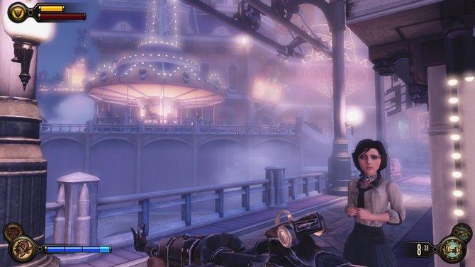 In Bioshock Infinite seid ihr die meiste Spielzeit mit Begleiterin Elizabeth unterwegs.