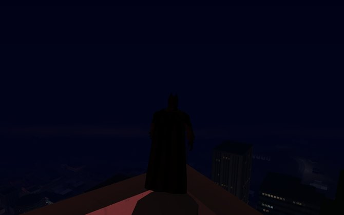 Als Batman könnt ihr über die Stadt wachen.