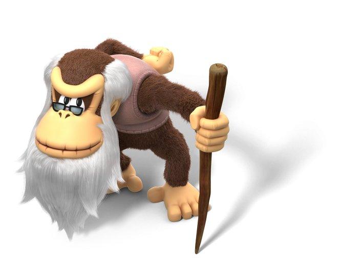 Cranky Kong ist nicht mehr der Jüngste, so eine HD-Hüpferei lässt er sich aber nicht entgehen!