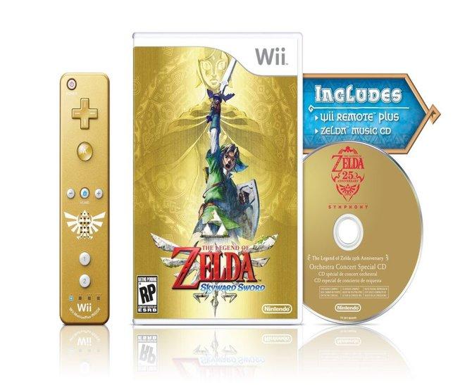 Eine goldene Wii Mote Plus im Zelda-Design legt euch Nintendo in die Sammler-Edition ...