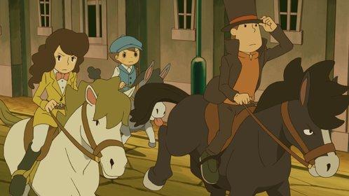 Professor Layton und die Maske der Wunder: Das Spiel ist voller actionreicher Anime-Sequenzen.