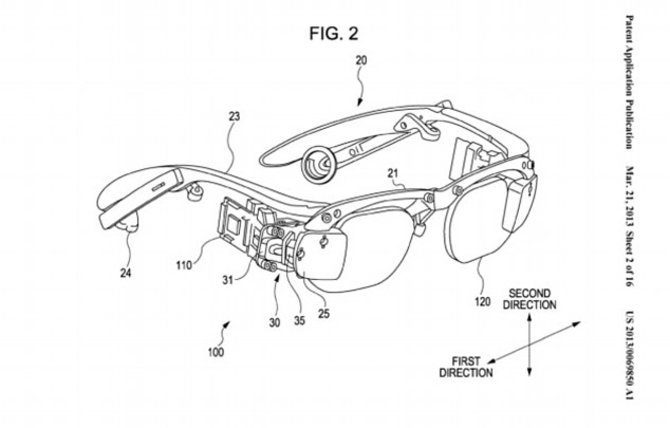 Der Patentantrag enthält bereits eine genaue Skizze von Sonys Datenbrille.