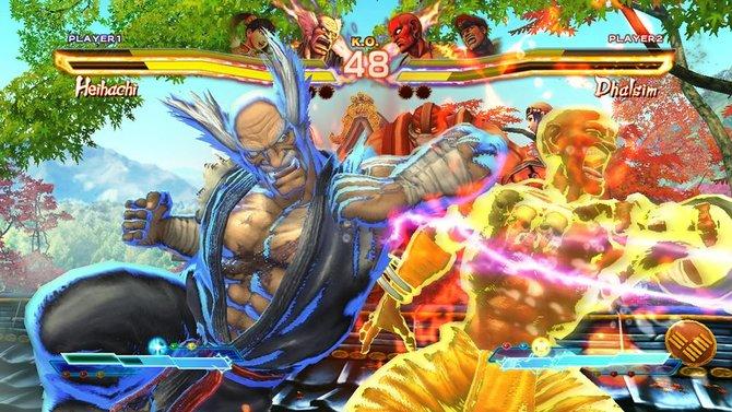 Wie über den Lebensbalken zu sehen ist, mischen in Steet Fighter x Tekken auch Ling Xiaoyu und M. Bison mit.