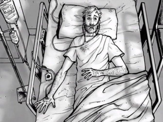 """""""The Walking Dead"""" erzählt im Comicbuch die Geschichte des Polizisten Rick Grimes. Dieser wird anfangs von einem Verbrecher angeschossen und so ins Koma versetzt. ..."""