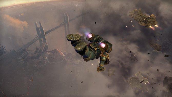 Im schicken Intro stürzen sich Titus und seine gefährten mutig per Sprungmodul aus einem Raumschiff.