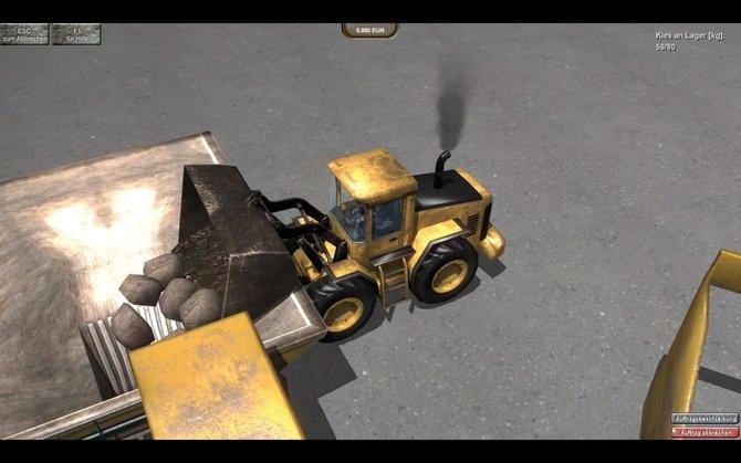 Steinbruch-Simulator 2012: Vordatiert aber zurückgeblieben.
