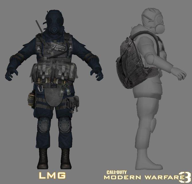 Ein Soldaten-Modell aus Modern Warfare 3.