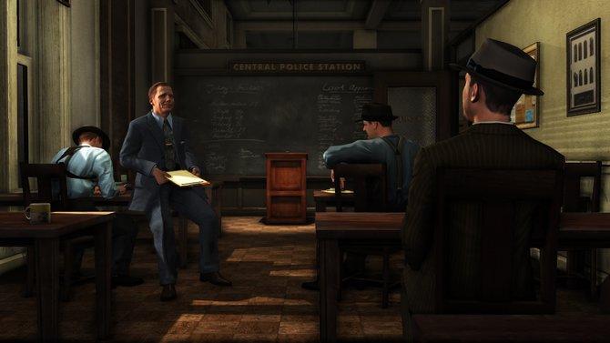 In der Polizeizentrale werdet Ihr über den nächsten anstehenden Fall informiert.