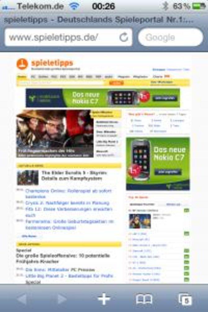 Gebt die spieletipps-Homepage im Browser ein.