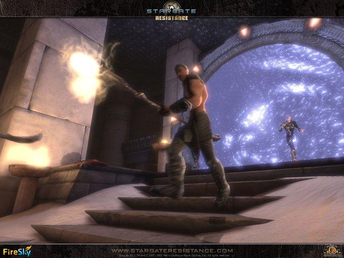 Aus dem Sternentor heraus erfolgt der Angriff.