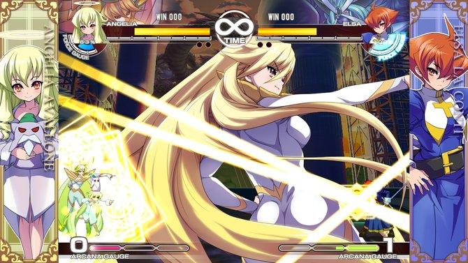 In Arcana Heart 3 werfen sich die Charaktere gekonnt in Pose.