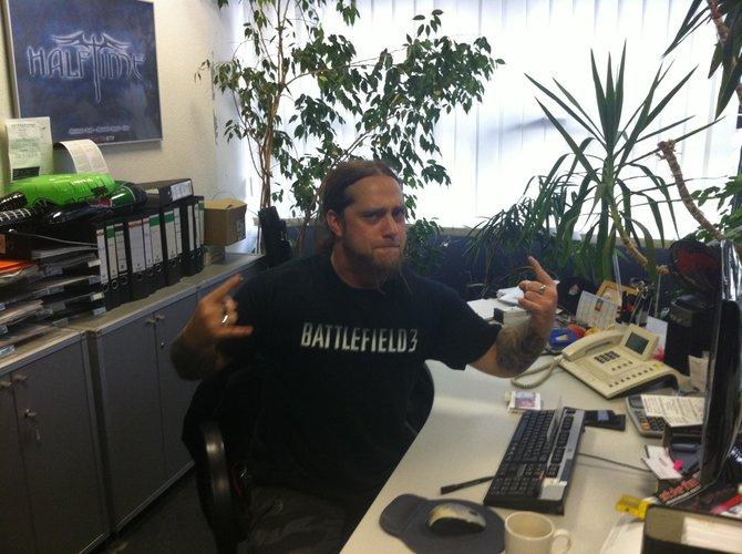 Rampensau Martin Kesici ist bekennender Battlefield-3-Spieler.