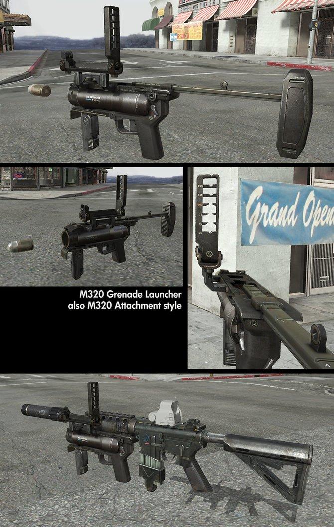 Diesen Granatenwerfer könnt ihr auch an Maschinengewehre anschließen.