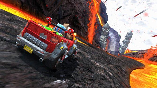 Sonic & Sega All-Stars Racing: Auf dieser Strecke geht es wahrlich heiß her.