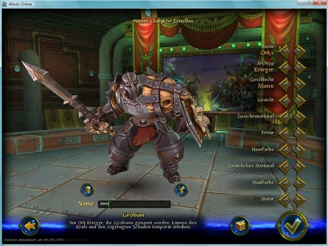 Der gepanzerte Ork lässt sich durch viele Auswahlmöglichkeiten individualisieren!