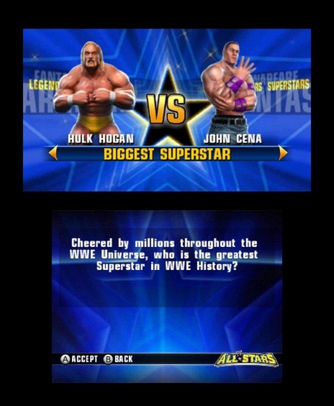Wie der Name All Stars sagt, sind hier nahezu alle namhaften Wrestler vertreten.