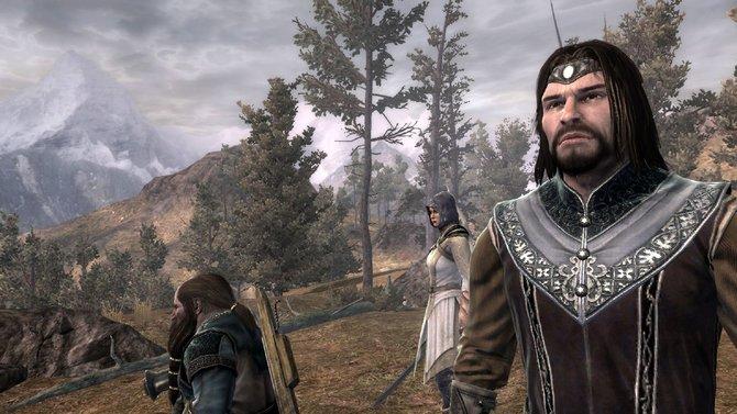 Die drei spielbaren Charaktere: Zwerg Farin (von links), Elbin Andriel und Waldläufer Eradan.