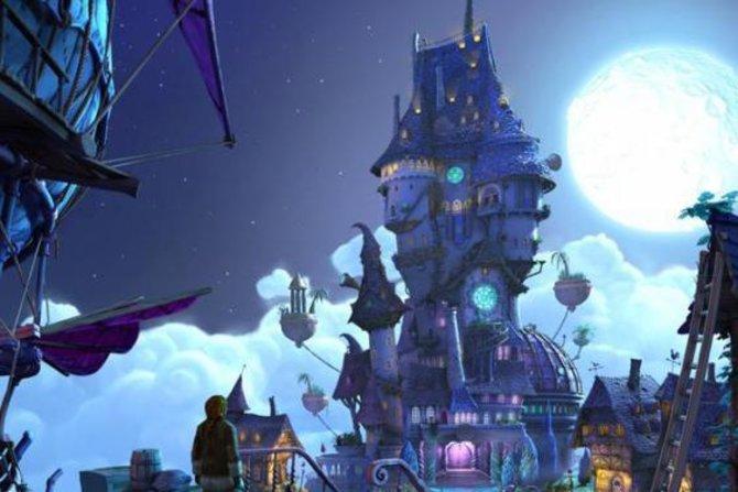 In dieser monolithischen Festung residiert der finstere Hexer Munkus, euer Rivale.
