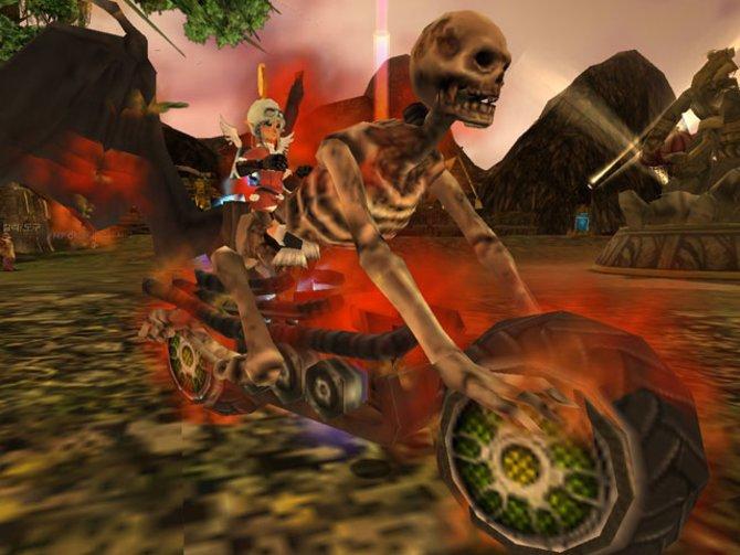 Auf dem Höllen-Steambike geht's auf in die Schlacht!