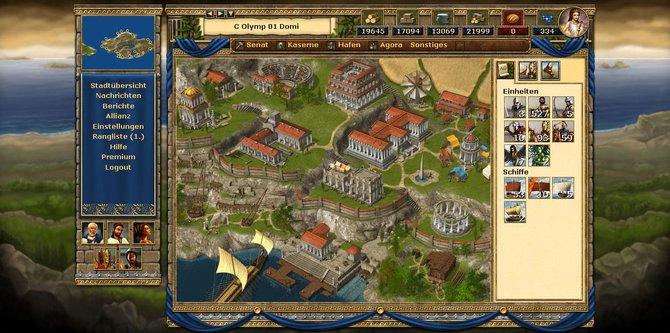 Eine voll ausgebaute Stadt in Grepolis. Euer Ziel!