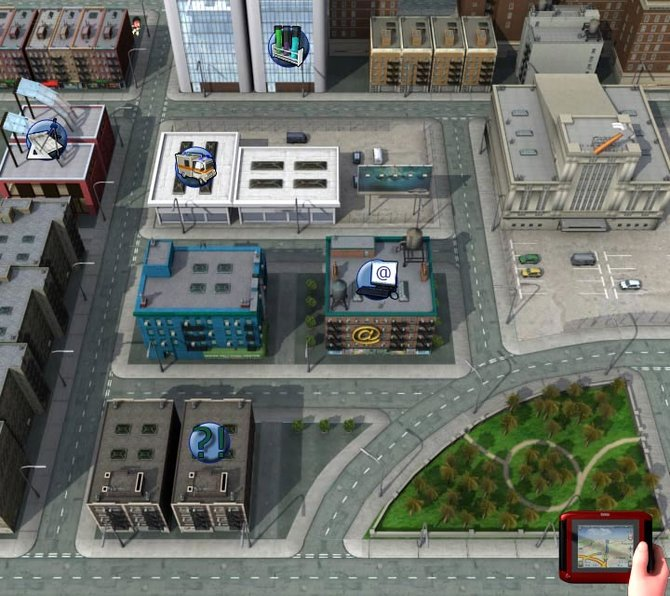 Die Stadtansicht - eure Navigation.
