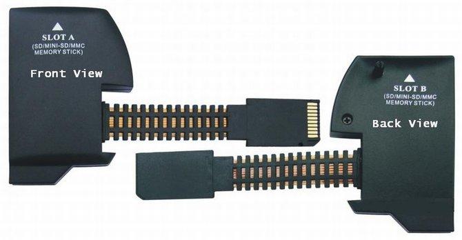 """Mit dem """"PSP Double Memory Expender"""" nutzt ihr auch ganz normale Speicherkarten mit der PSP."""