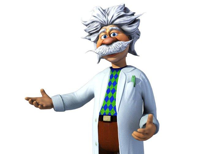 Der Crazy-Machines-Professor führt euch die Puzzles.