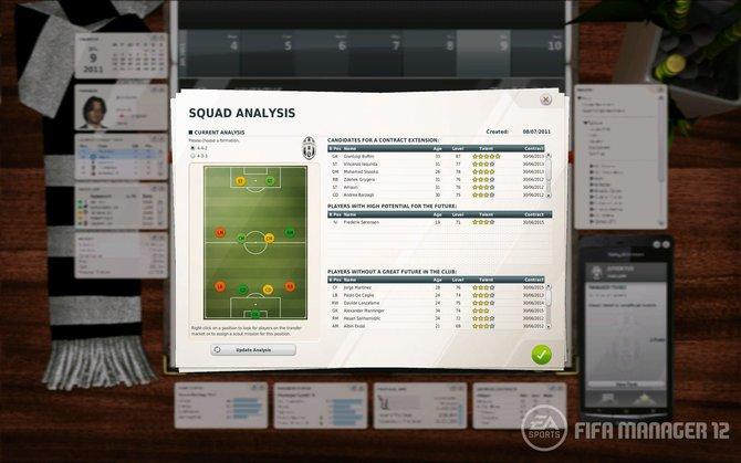 Euer Assistent erarbeitet euch in der Kader-Analyse die Stärken und Schwächen eurer Mannschaft.
