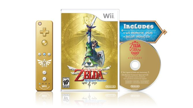 Die Sammlerausgabe von Skyward Sword kommt mit goldener WiiMote.