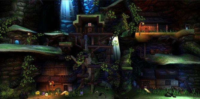 Cave Story: Die Neugestaltung des Mimiga-Dorfes präsentiert sich schön und farbstark.