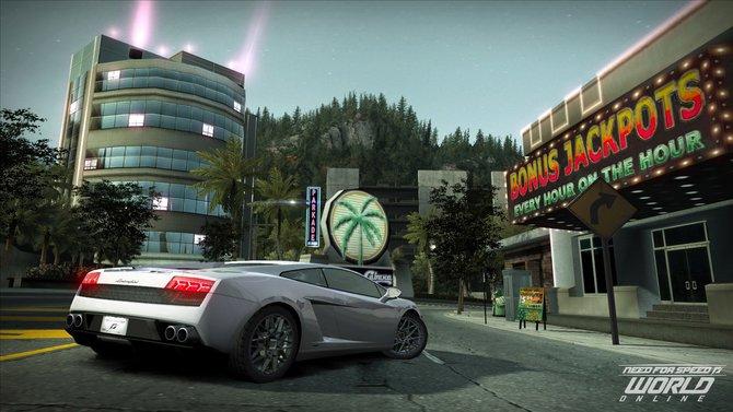 Lizensierte Automarken wie der Lamborghini jagen durch NFS World Online.