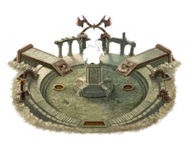 Eine Arena, ein Krieger, Äxte - was hat es mit dem Bild auf sich?