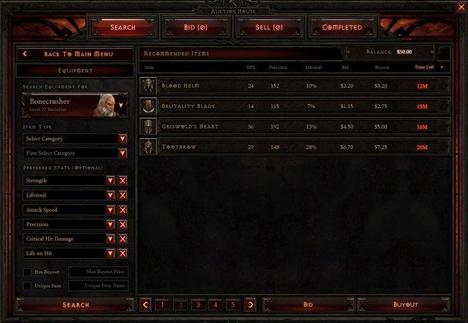 Das Auktionshaus von Diablo 3.