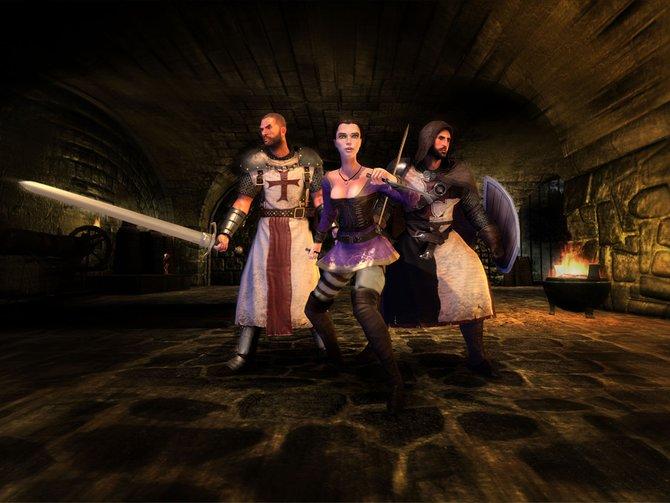 Das Trio Infernale: Roland, Marie und Celian.