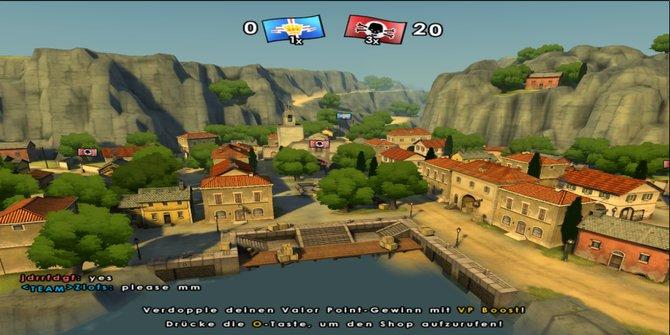 Nach unserer Niederlage erhalten wir einen letzten Überblick über die Karte.
