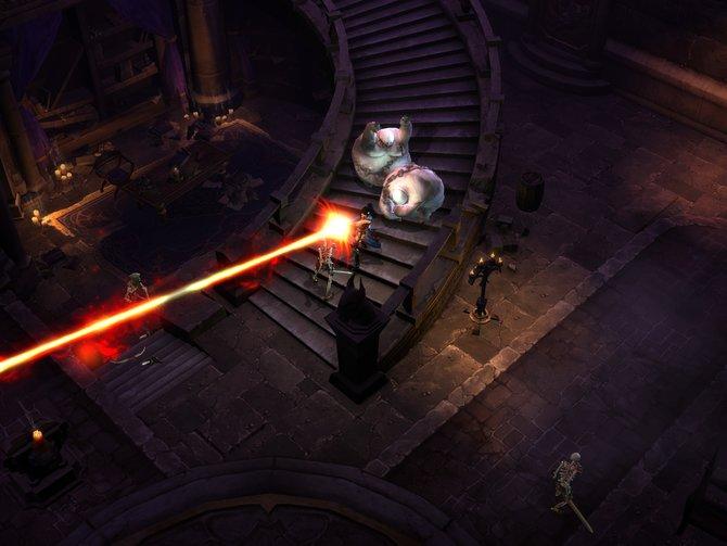Die Zauberin und ihre Laserkanone. Der Zauber nennt sich Desintegration.