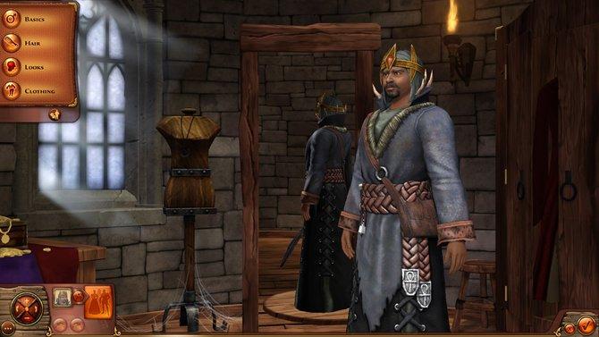 Der Kleidungs-Editor hüllt die Sims in prächtige Gewänder.
