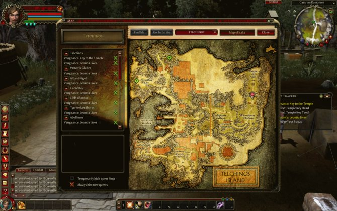 Auf der Map seht ihr eine übersichtliche Darstellung der Umgebung.