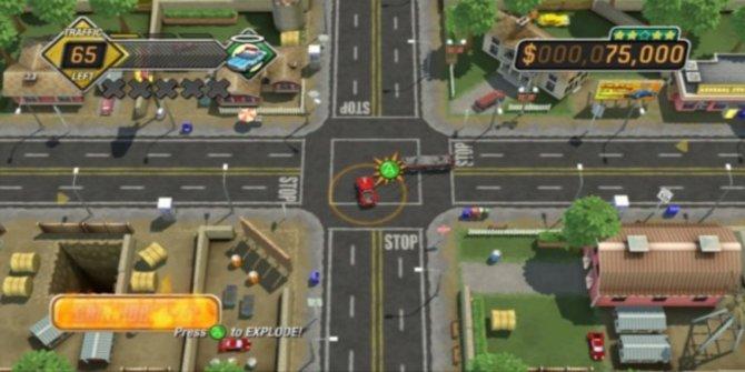 Burnout Crash: In der Mitte der Kreuzung crasht es sich am besten.