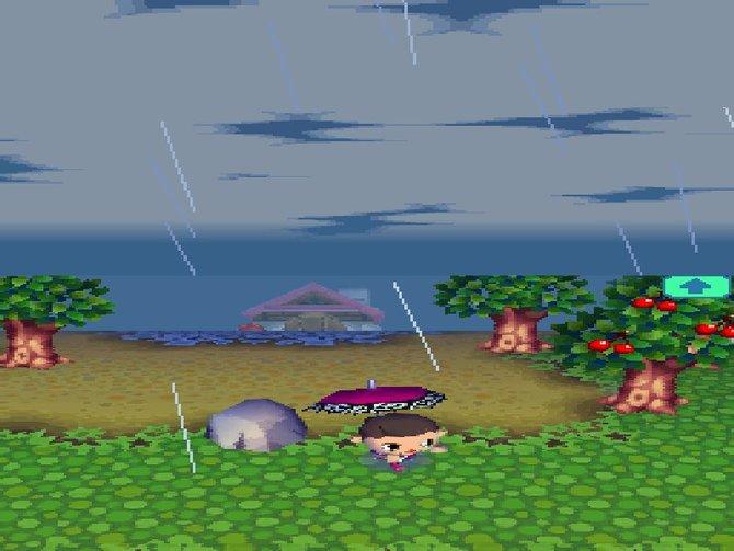 Neben Unterschieden in der Tageszeit gibt es auch Witterungsverhältnisse wie diesen Regenschauer.