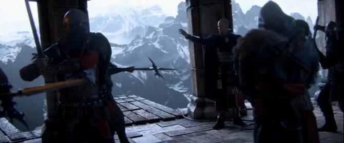 In der beeindruckenden Anfangssequenz soll Ezio in Masyaf erhängt werden ...