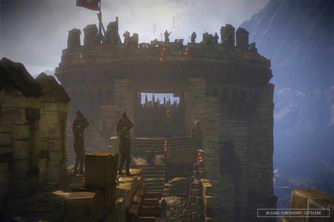 The Witcher 2 - Assassins of Kings: Dieser Turm steht unter starkem Beschuss.