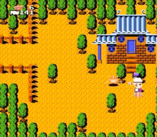 Das erste Dragonball fürs NES von 1986 führt euch zur Villa des verdorbenen Schweins Oolong.