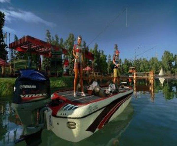 Rapala Pro Bass Fishing: Zu zweit könnt ihr ebenfalls auf Angelfahrt gehen.