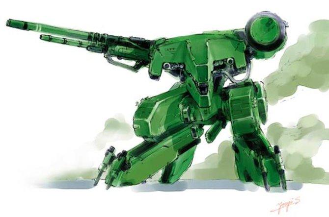 Namensgeber und ständiger Gegner: Metal Gear (hier Metal Gear Rex).