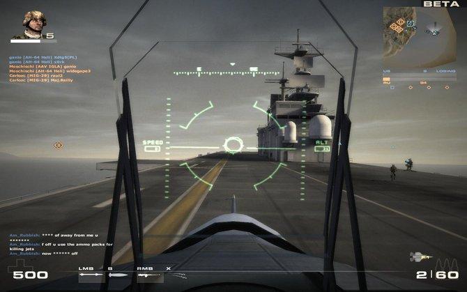 Die Inenansicht in Fahr- und Flugzeugen ist einfach aber passend gehalten.