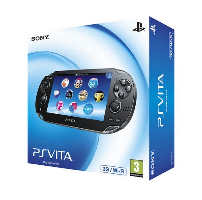 So sieht die Verpackung der PS Vita aus.
